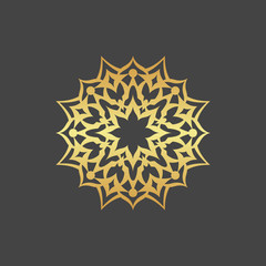 Abstract gold flower