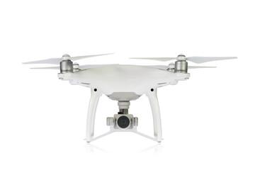 Un drone su sfondo bianco