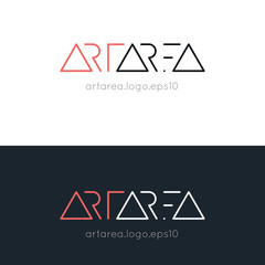 Stylish minimalistic text logo for art area