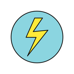 Lightning Icon Vector Illustration in Flat Design