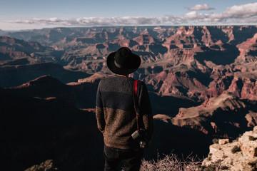 Photographer looking at Colorado Grand Canyon Hills