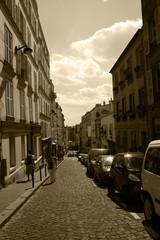 Paris,France,Montmartre,sepia.