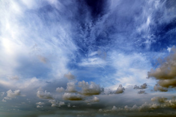 beautiful heavenly landscape with sunny skies and amazing clouds