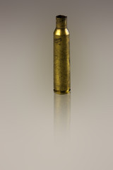 Rifle bullet case/Bullet case on plain background