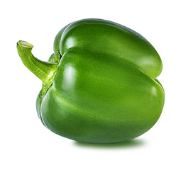 green bell peppers isolated on white