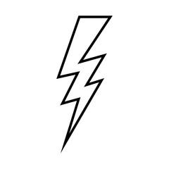 silhouette lightning design flat icon vector illustration