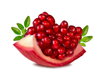 Wall Mural -  pomegranate isolated on white
