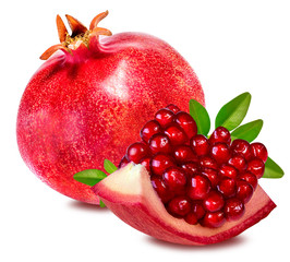 Fototapete -  pomegranate isolated on white