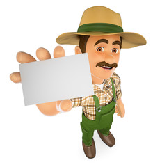 3D Gardener showing a blank card