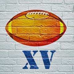 Street art, ballon de rugby