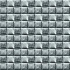 Foto op Canvas Geometrisch Seamless pattern, silver mosaic. Abstract background.