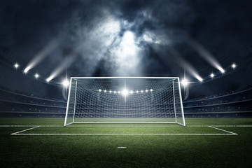 Stadiım and Goal post ,3d rendering