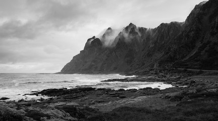 Aluminium Prints Sea Dramatic Coast on Andoya, Vesteralen, Norway