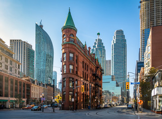 Photo sur Toile Toronto Gooderham or Flatiron Building in downtown Toronto - Toronto, Ontario, Canada