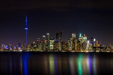 Toronto Skyline at night - Toronto, Ontario, Canada