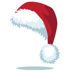 Cartoon Santa hat isolated on white EPS 10 vector
