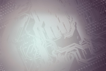 silhouette of a computer motherboard, as a background for your IT technology presentation
