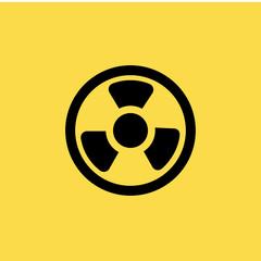 toxic symbol icon. flat design