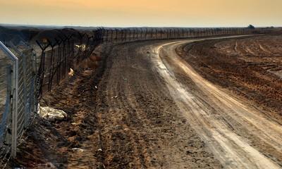 Wegen Minengefahr gesperrtes Gebiet in Galiläa