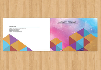 Business Catalog Layout with Flat Geometric Design Element 1
