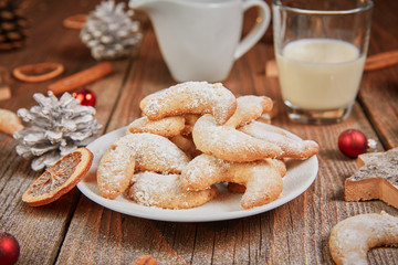 Vanille Kipferl cookies for christmas