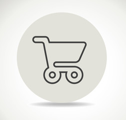 cart shopping online icon ball shadow vector flat stock