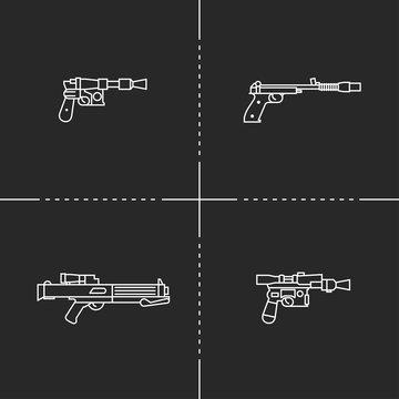 Fantastic weapons illustration