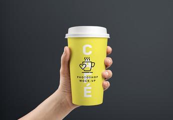 Maquetas de tazas de café