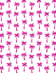 Watercolor Palm Tree Pattern