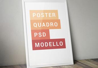 Modello di cornici inclinate di poster