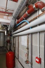 salle technique chauffage bâtiment, local chaufferie