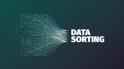 Data sorting abstract vector illustration