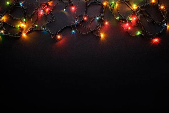Christmas lights are lit