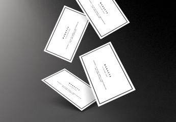Maquetas de tarjetas de empresa múltiples