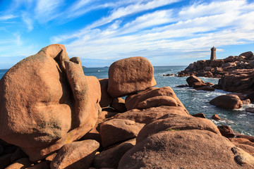 Blocks in Pink Granite Coast.