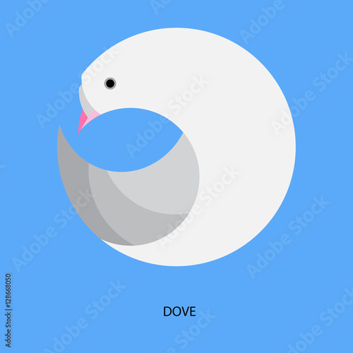 quotemblem design in a circle stylized dove blue