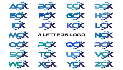3 letters modern generic swoosh logo  ACK, BCK, CCK, DCK, ECK, FCK, GCK, HCK, ICK, JCK, KCK, LCK, MCK, NCK, OCK, PCK, QCK, RCK, SCK, TCK, UCK, VCK, WCK, XCK, YCK, ZCK