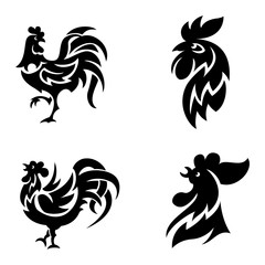 Rooster logo icons vector illustration