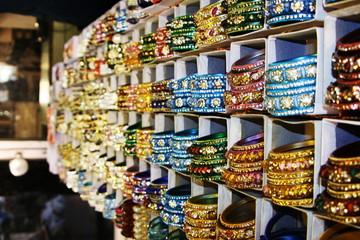 Colorful bracelet in India