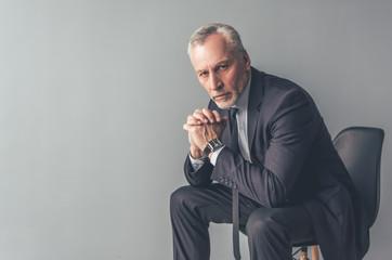 Handsome mature businessman