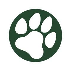 dog paw logo vector