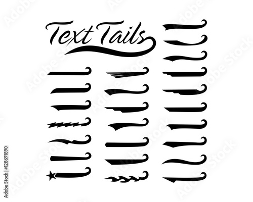 """Font Tails Svg Vector Text Tails Font Swoosh Text Swoosh: """"Text Tails"""" Imagens E Vetores De Stock Royalty Free No"""