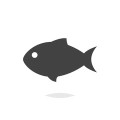 Fish icon isolated