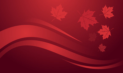 Maple Leaf Red Nature Vector Background Wallpaper