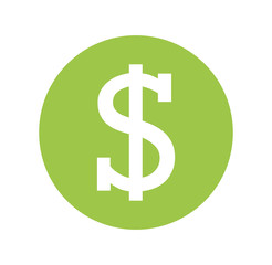 money symbol isolated icon vector illustration design