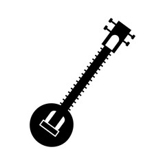 Sitar indian music instrument icon vector illustration graphic design