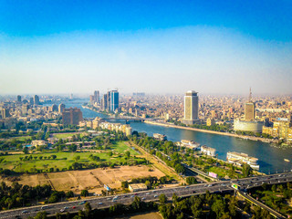 Cairo from atop the Tower of Cairo Papier Peint