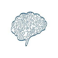 Human brain mind icon vector illustration graphic design