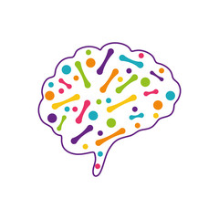 Human brain mind icon vector illustration graphic design