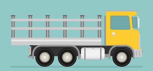 Delivery vector transport truck van. Flat vector.